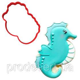 Вирубка для пряників Морський коник-3 9*7 см (3D)