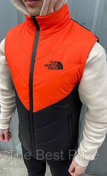 Жилетка мужская (оранжево - черная) the north face Clip