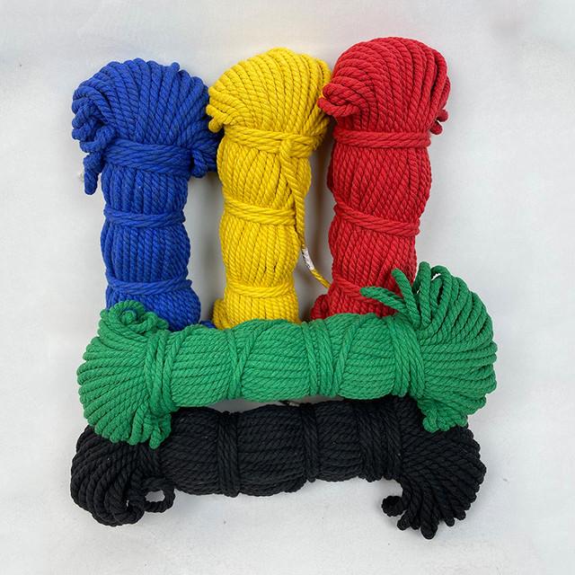Цветная плетеная веревка