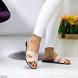 Шлепанцы женские розовые/ пудра натуральная кожа, фото 8