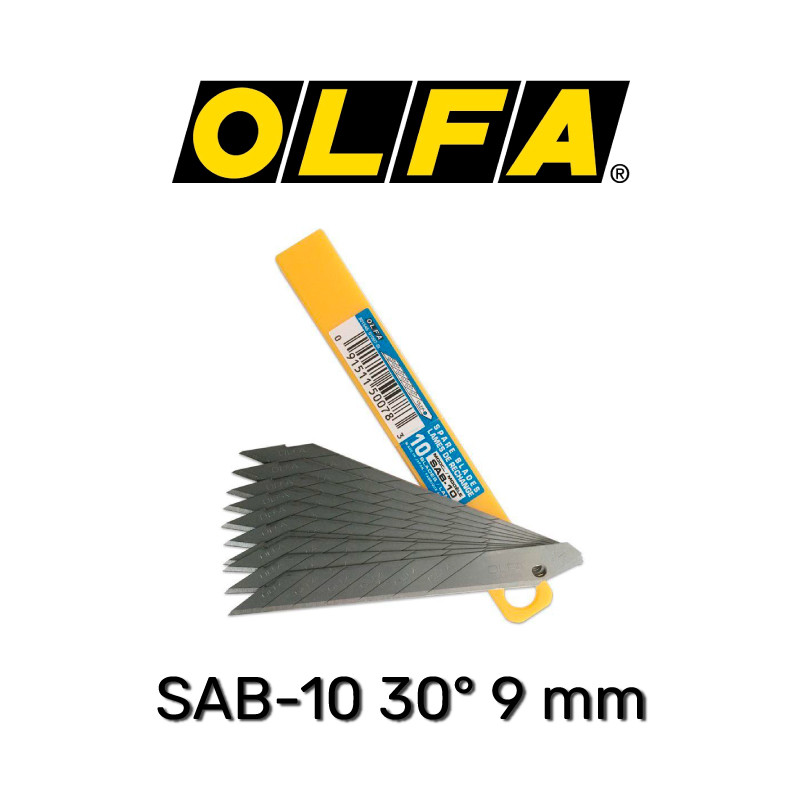 Сегментные лезвия OLFA SAB-10 30° 9 мм (10 шт.)