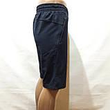 М,L,XL р  Шорты удлиненные мужские трикотажные Everest до колена х/б темно-синие Турция, фото 4