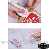 Ручной вакуумный мини запайщик пакетов Korea Type Mini Sealing, фото 4