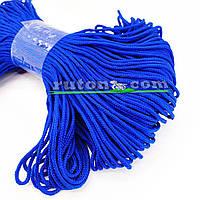 Синій в'язаний рибальський шнур 4 мм 100м для в'язання гачком та виробів хендмей