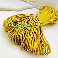 Жовтий в'язаний рибальський шнур 3 мм 100м для в'язання гачком та виробів хендмей