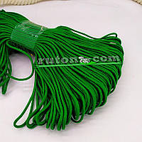 Зелений в'язаний рибальський шнур 3 мм 100м для в'язання гачком та виробів хендмей