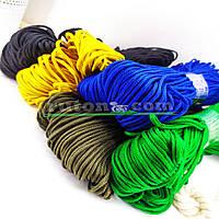 Кольорова в'язана рибальська мотузка 3 мм 100м для в'язання гачком та виробів хендмей