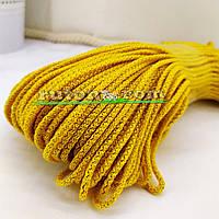 Жовтий м'який шнур для в'язання килима 3 мм 100 м