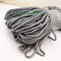 Сірий м'який шнур для в'язання килима 3 мм 100 м