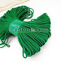 Зелений м'який шнур для в'язання килима 3 мм 100 м