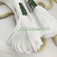 Плетений рибальський білий шнур 3мм 20м 100кг на розрив