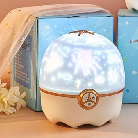 Светодиодный ночник-проектор Звезда + 8 проекций