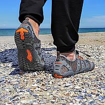 РОЗМІРИ 46, 47 Сірі аквашузи чоловічі і жіночі коралки аквавзуття шльопанці для моря аква взуття сліпони, фото 2