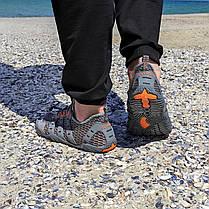 РОЗМІРИ 46, 47 Сірі аквашузи чоловічі і жіночі коралки аквавзуття шльопанці для моря аква взуття сліпони, фото 3