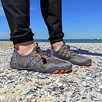 Сірі аквашузи чоловічі і жіночі коралки аквавзуття шльопанці для моря аква взуття сліпони мокасини на море пляж