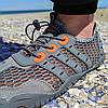 РОЗМІРИ 46, 47 Сірі аквашузи чоловічі і жіночі коралки аквавзуття шльопанці для моря аква взуття сліпони, фото 4