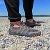 РАЗМЕРЫ 46, 47 Серые аквашузы мужские и женские коралки акваобувь шлепки для моря аква обувь слипоны мокасины, фото 5