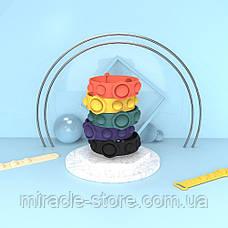 Іграшка Pop it ПопИт антистрес 3*17см браслет одноколірний сенсорна іграшка Simple Dimple сімпл дімпл, фото 3