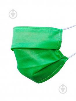 Маски одноразовые зеленые, голубые