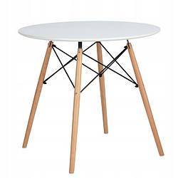 Стіл обідній круглий Homart DT-004 80 см білий (9378)