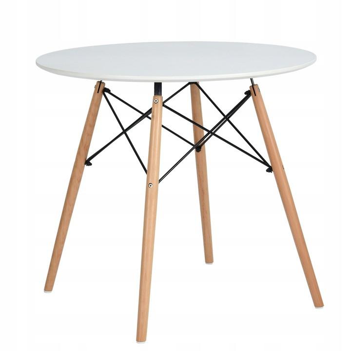Стіл обідній круглий Homart DT-003 60 см білий (9377)