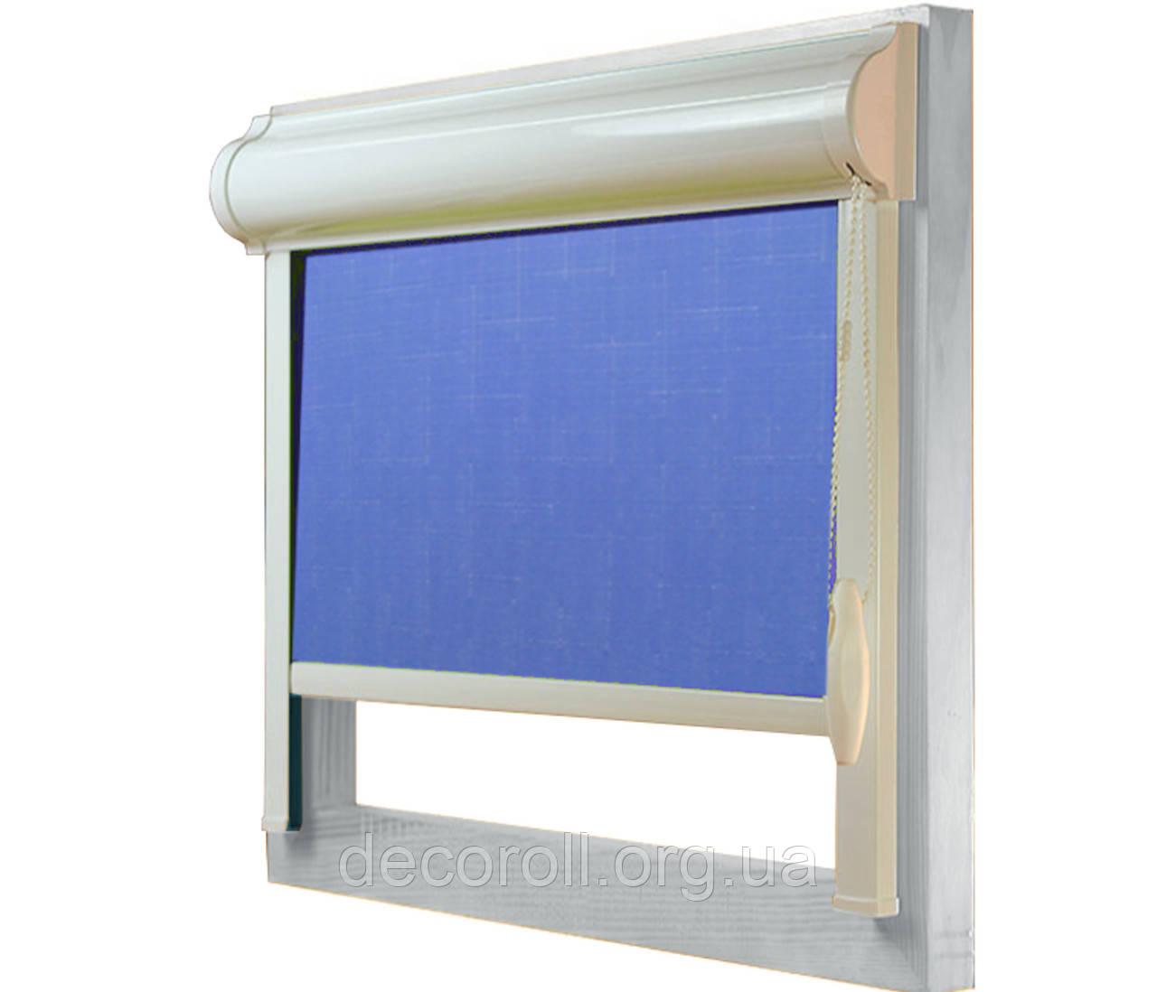 Закриті рулонні штори в коробі, з направляючими Uni-2