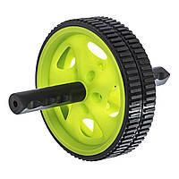 Колесо для пресса двойное ролик для пресса Zelart 4242 Green-Black d-18,5см