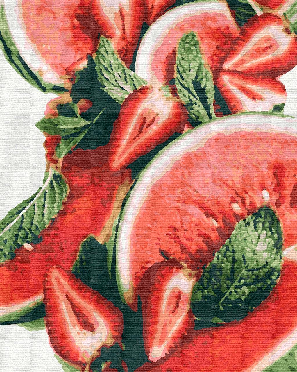 Картина по номерам фрукты 40х50 Сочные Ягоды