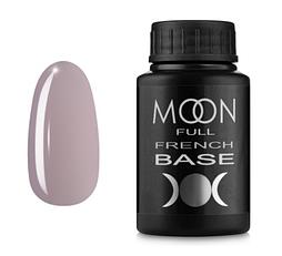 MOON FULL Baza French №10 - база для гель лаку, 30 мл. (Рожево-сірий)