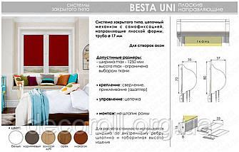 Ролети закритого типу в коробі, касетні, з плоскими направляючими Besta Uni, фото 3