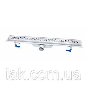 Трап лінійний Qtap Dry FC304-600 з нержавіючою решіткою 600х73