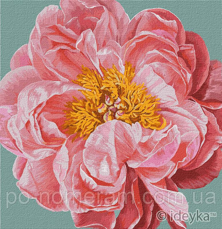 Картина по номерам Идейка Pink kiss (KHO2952) 40 х 40 см (Без коробки)