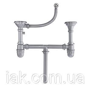 Сифон для кухонної мийки Imperial 104-2 з круглим переливом