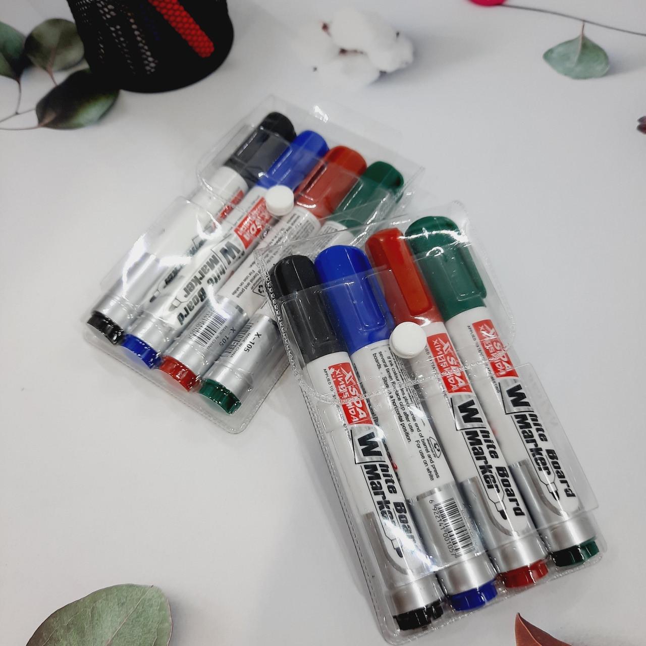 Набор цветных маркеров для белых досок 4 шт