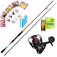 Спиннинг Набор FANATIK для ловли хищной рыбы /щука, судак, окунь/ 2.4 м.