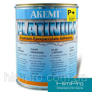 PLATINUM P+ густой 1 КГ Пастообразный прозрачный клей на основе эпоксиакрилатов Акеми