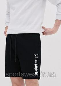 Шорты Palm Angels Logo 2021 с карманами чёрные мужские женские подростковые