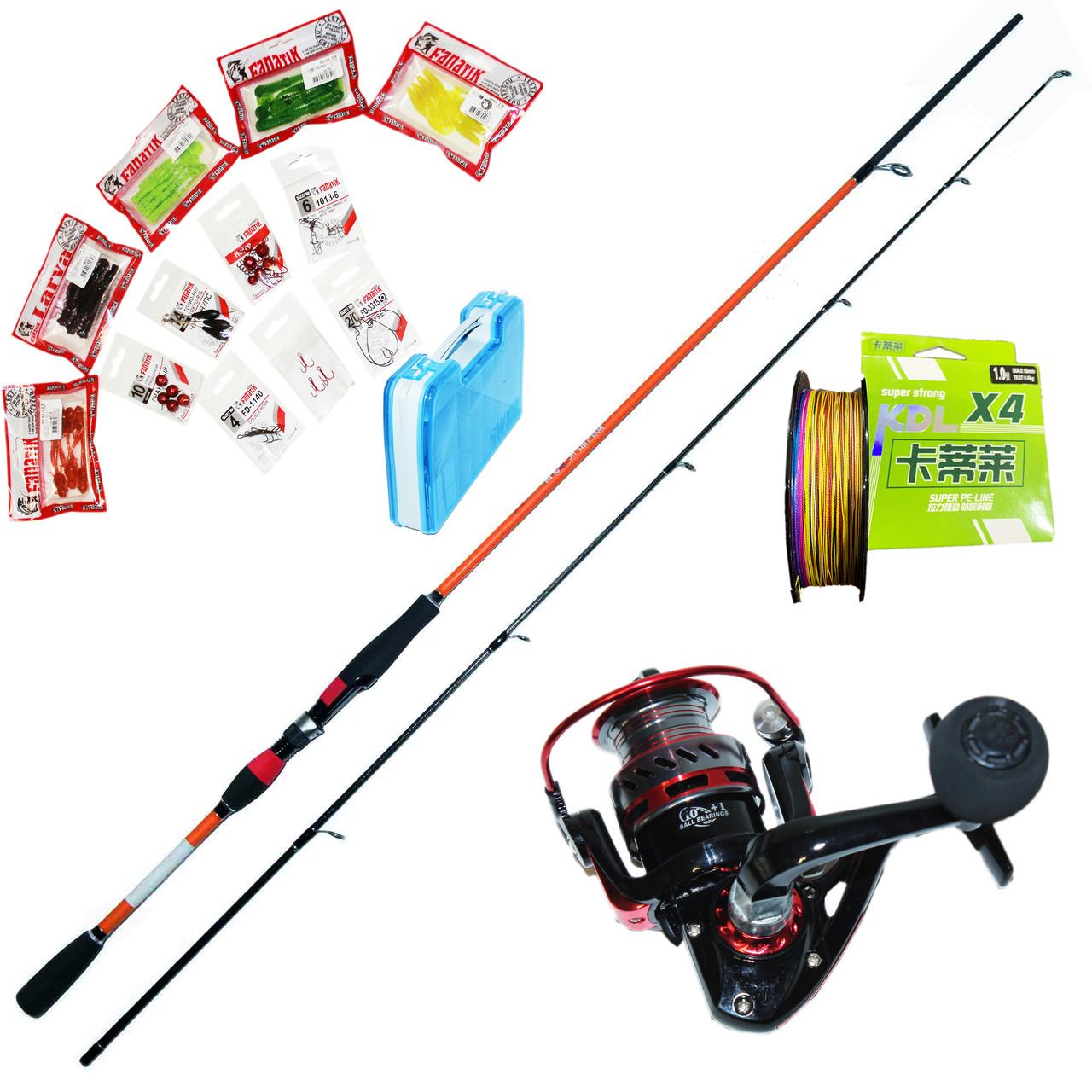 Спінінг Набір FANATIK для лову хижої риби /щука, судак, окунь/ 2.7 м.