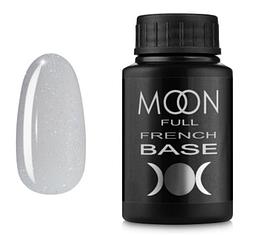 MOON FULL Baza French №15 - база для гель лаку, 30 мл. (молочний з шиммером)