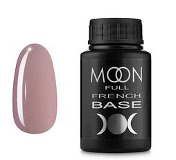 MOON FULL Baza French №16 - база для гель лака, 30 мл. (розовый с мелким Шиммер)