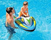 """Детска надувная игрушка для пляжа """"Водный Скутер"""" Intex 1-о местный от 3 лет с ручкой"""