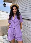 Костюм женский летний NOBILITAS 42 - 48 лиловый лен (арт. 21017), фото 2