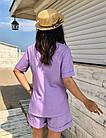 Костюм женский летний NOBILITAS 42 - 48 лиловый лен (арт. 21017), фото 3