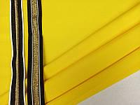 Ткань двухнитка (футер),ширина 1,80 м, цвет яркий лимон