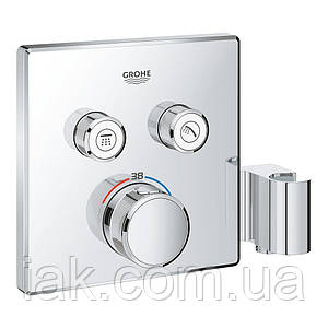 Зовнішня частина термостатичного змішувача для душу Grohe Grohtherm SmartControl 29125000 для двох споживачів