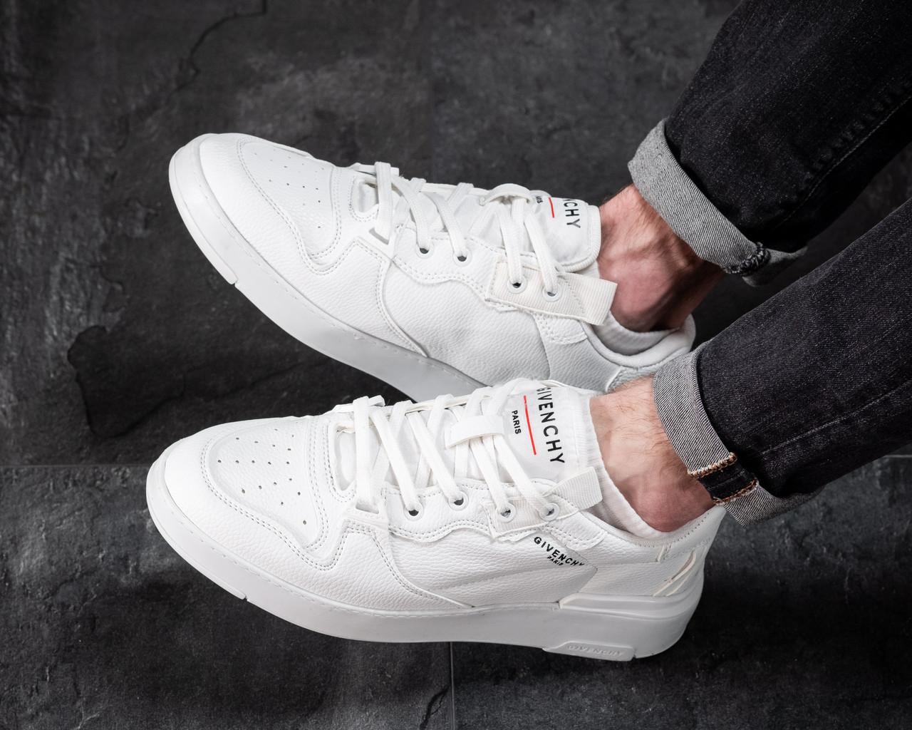 Мужские кроссовки Белые Кожаные, Реплика