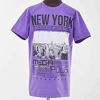 Футболка подростковая New York  фиолетовый