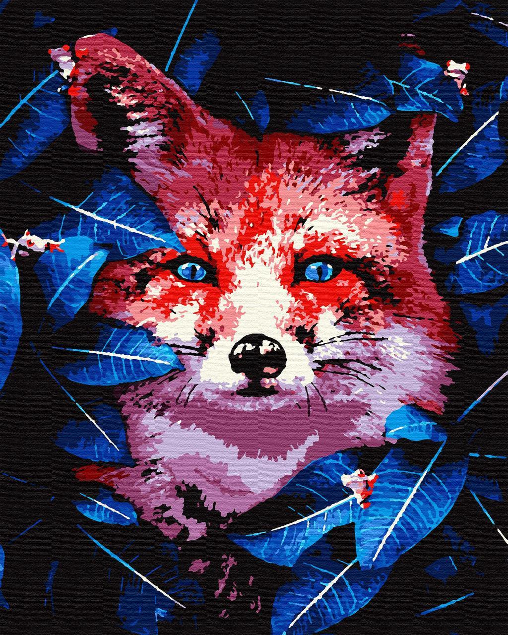 Картина за номерами тварина лисиця 40х50 Хижачка