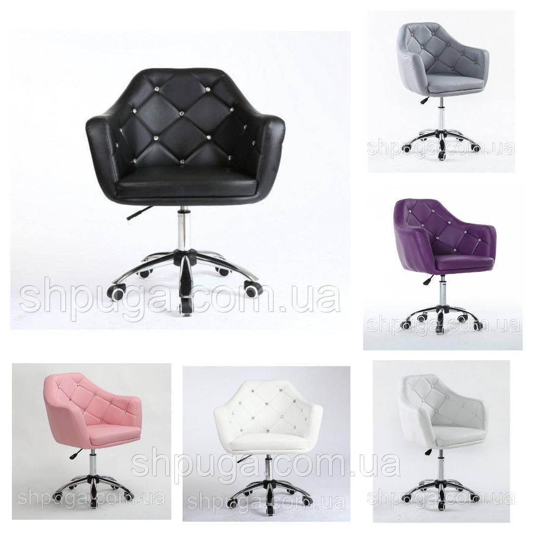Перукарське крісло код 830 шкірзам колір на вибір з каталогу.