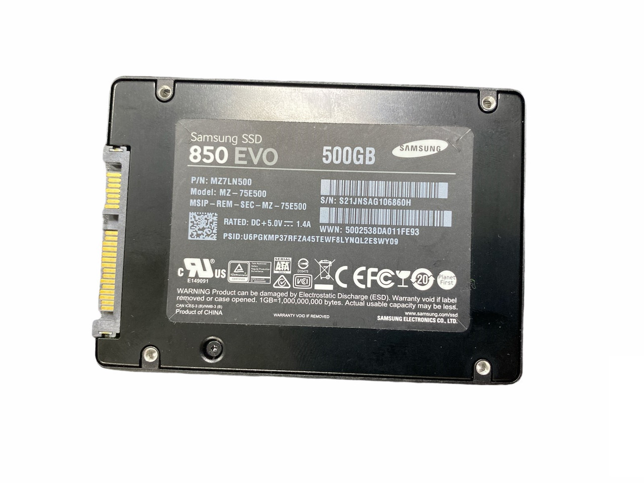 SSD Samsung EVO 500Gb MZ-75E500_2.5- Б/В